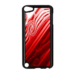 Red Abstract Swirling Pattern Background Wallpaper Apple iPod Touch 5 Case (Black)