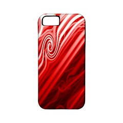 Red Abstract Swirling Pattern Background Wallpaper Apple iPhone 5 Classic Hardshell Case (PC+Silicone)