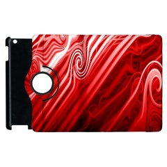 Red Abstract Swirling Pattern Background Wallpaper Apple Ipad 2 Flip 360 Case