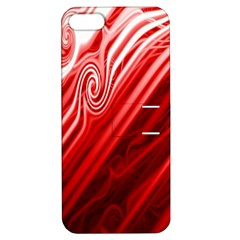 Red Abstract Swirling Pattern Background Wallpaper Apple iPhone 5 Hardshell Case with Stand