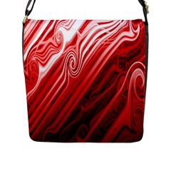 Red Abstract Swirling Pattern Background Wallpaper Flap Messenger Bag (L)
