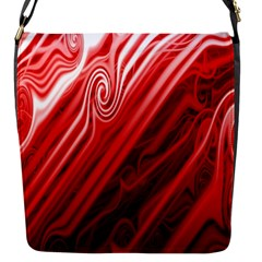 Red Abstract Swirling Pattern Background Wallpaper Flap Messenger Bag (S)