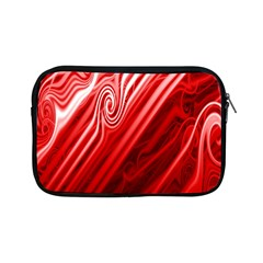Red Abstract Swirling Pattern Background Wallpaper Apple Ipad Mini Zipper Cases