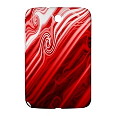 Red Abstract Swirling Pattern Background Wallpaper Samsung Galaxy Note 8.0 N5100 Hardshell Case