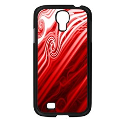 Red Abstract Swirling Pattern Background Wallpaper Samsung Galaxy S4 I9500/ I9505 Case (black)