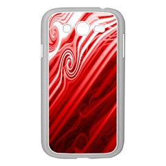 Red Abstract Swirling Pattern Background Wallpaper Samsung Galaxy Grand DUOS I9082 Case (White)