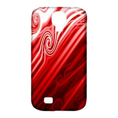 Red Abstract Swirling Pattern Background Wallpaper Samsung Galaxy S4 Classic Hardshell Case (pc+silicone)