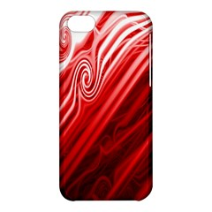 Red Abstract Swirling Pattern Background Wallpaper Apple iPhone 5C Hardshell Case