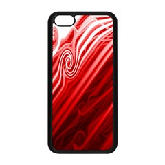 Red Abstract Swirling Pattern Background Wallpaper Apple iPhone 5C Seamless Case (Black)