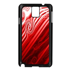 Red Abstract Swirling Pattern Background Wallpaper Samsung Galaxy Note 3 N9005 Case (Black)