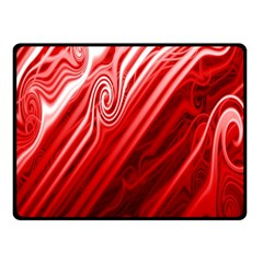 Red Abstract Swirling Pattern Background Wallpaper Double Sided Fleece Blanket (Small)