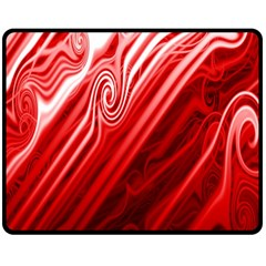 Red Abstract Swirling Pattern Background Wallpaper Double Sided Fleece Blanket (Medium)