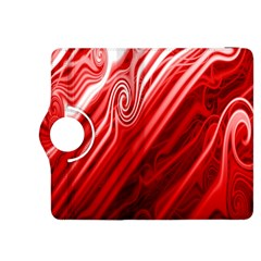 Red Abstract Swirling Pattern Background Wallpaper Kindle Fire HDX 8.9  Flip 360 Case