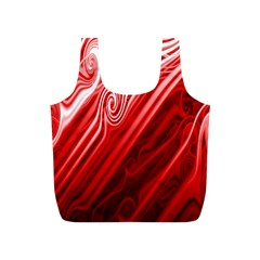 Red Abstract Swirling Pattern Background Wallpaper Full Print Recycle Bags (S)