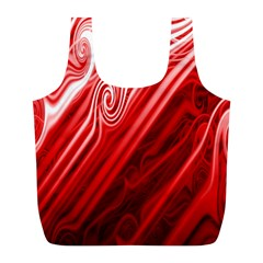 Red Abstract Swirling Pattern Background Wallpaper Full Print Recycle Bags (l)