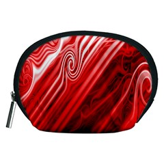 Red Abstract Swirling Pattern Background Wallpaper Accessory Pouches (Medium)