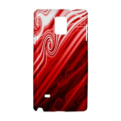 Red Abstract Swirling Pattern Background Wallpaper Samsung Galaxy Note 4 Hardshell Case
