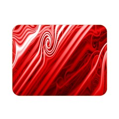 Red Abstract Swirling Pattern Background Wallpaper Double Sided Flano Blanket (mini)