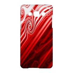 Red Abstract Swirling Pattern Background Wallpaper Samsung Galaxy A5 Hardshell Case