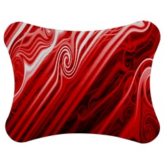 Red Abstract Swirling Pattern Background Wallpaper Jigsaw Puzzle Photo Stand (bow)