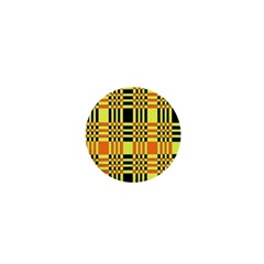 Yellow Orange And Black Background Plaid Like Background Of Halloween Colors Orange Yellow And Black 1  Mini Buttons