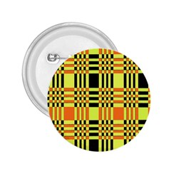 Yellow Orange And Black Background Plaid Like Background Of Halloween Colors Orange Yellow And Black 2 25  Buttons