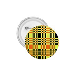 Yellow Orange And Black Background Plaid Like Background Of Halloween Colors Orange Yellow And Black 1.75  Buttons