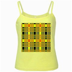 Yellow Orange And Black Background Plaid Like Background Of Halloween Colors Orange Yellow And Black Yellow Spaghetti Tank