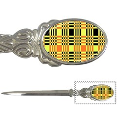 Yellow Orange And Black Background Plaid Like Background Of Halloween Colors Orange Yellow And Black Letter Openers