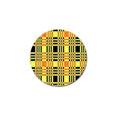 Yellow Orange And Black Background Plaid Like Background Of Halloween Colors Orange Yellow And Black Golf Ball Marker (10 pack)