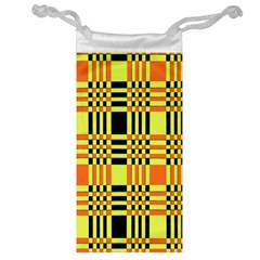 Yellow Orange And Black Background Plaid Like Background Of Halloween Colors Orange Yellow And Black Jewelry Bag