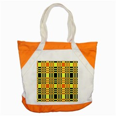 Yellow Orange And Black Background Plaid Like Background Of Halloween Colors Orange Yellow And Black Accent Tote Bag