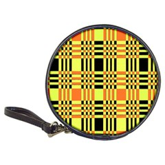 Yellow Orange And Black Background Plaid Like Background Of Halloween Colors Orange Yellow And Black Classic 20 Cd Wallets