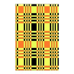 Yellow Orange And Black Background Plaid Like Background Of Halloween Colors Orange Yellow And Black Shower Curtain 48  x 72  (Small)