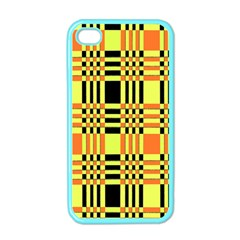Yellow Orange And Black Background Plaid Like Background Of Halloween Colors Orange Yellow And Black Apple Iphone 4 Case (color)