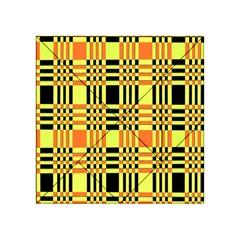 Yellow Orange And Black Background Plaid Like Background Of Halloween Colors Orange Yellow And Black Acrylic Tangram Puzzle (4  X 4 )