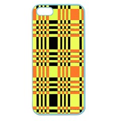 Yellow Orange And Black Background Plaid Like Background Of Halloween Colors Orange Yellow And Black Apple Seamless iPhone 5 Case (Color)