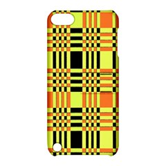 Yellow Orange And Black Background Plaid Like Background Of Halloween Colors Orange Yellow And Black Apple Ipod Touch 5 Hardshell Case With Stand