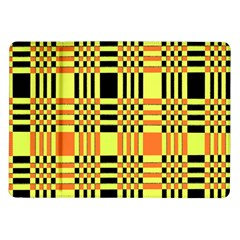 Yellow Orange And Black Background Plaid Like Background Of Halloween Colors Orange Yellow And Black Samsung Galaxy Tab 10.1  P7500 Flip Case