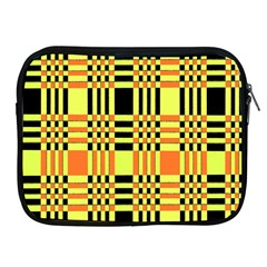 Yellow Orange And Black Background Plaid Like Background Of Halloween Colors Orange Yellow And Black Apple iPad 2/3/4 Zipper Cases