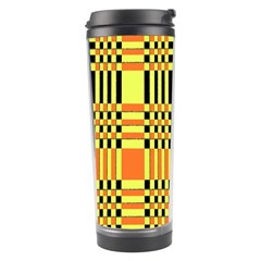 Yellow Orange And Black Background Plaid Like Background Of Halloween Colors Orange Yellow And Black Travel Tumbler