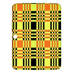 Yellow Orange And Black Background Plaid Like Background Of Halloween Colors Orange Yellow And Black Samsung Galaxy Tab 3 (10 1 ) P5200 Hardshell Case