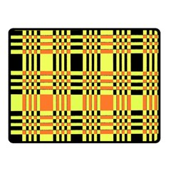 Yellow Orange And Black Background Plaid Like Background Of Halloween Colors Orange Yellow And Black Double Sided Fleece Blanket (Small)