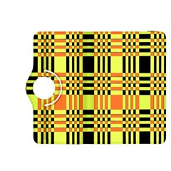 Yellow Orange And Black Background Plaid Like Background Of Halloween Colors Orange Yellow And Black Kindle Fire Hdx 8 9  Flip 360 Case