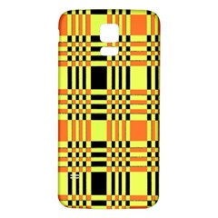 Yellow Orange And Black Background Plaid Like Background Of Halloween Colors Orange Yellow And Black Samsung Galaxy S5 Back Case (White)