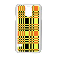 Yellow Orange And Black Background Plaid Like Background Of Halloween Colors Orange Yellow And Black Samsung Galaxy S5 Case (White)