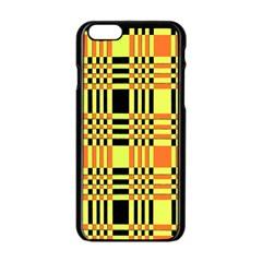 Yellow Orange And Black Background Plaid Like Background Of Halloween Colors Orange Yellow And Black Apple Iphone 6/6s Black Enamel Case