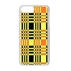 Yellow Orange And Black Background Plaid Like Background Of Halloween Colors Orange Yellow And Black Apple Iphone 7 Plus White Seamless Case