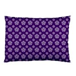 Deep Purple White Pentacle Pagan Wiccan Pillow Case (Two Sides) Front