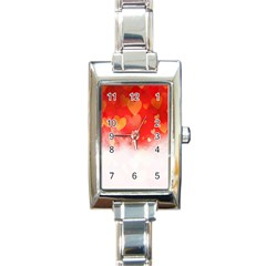 Abstract Love Heart Design Rectangle Italian Charm Watch